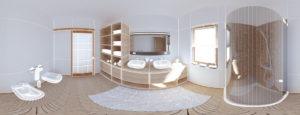 3D Planung eines Badezimmers. Die Firma Urs Metzger AG ist Ihr Partner bei Ihrem Badezimmer-Umbau.
